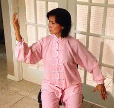 Seated Qigong Movement_woman in pink