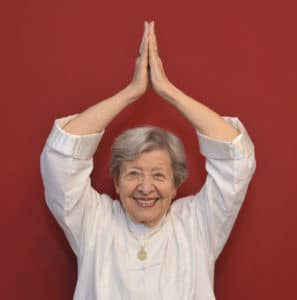 Senior Woman Doing Qigong 2